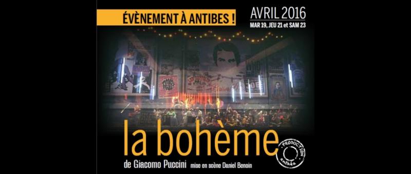 La Bohème de Puccini à Anthéa Antibes